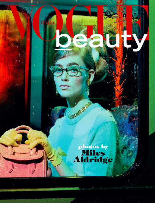 Miles Aldridge Vogue Italia Bus Stop1