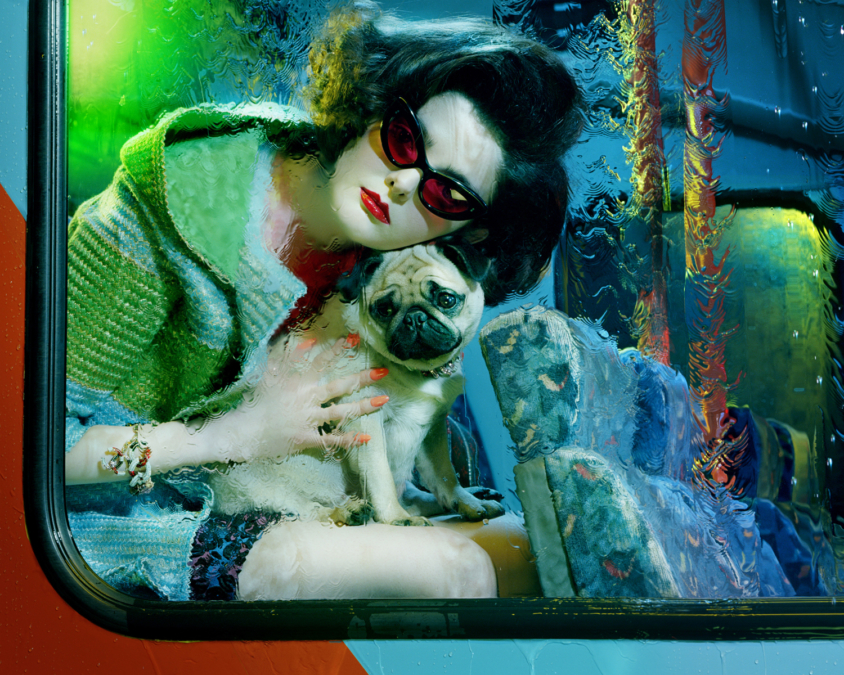 Miles Aldridge Vogue Italia Bus Stop2
