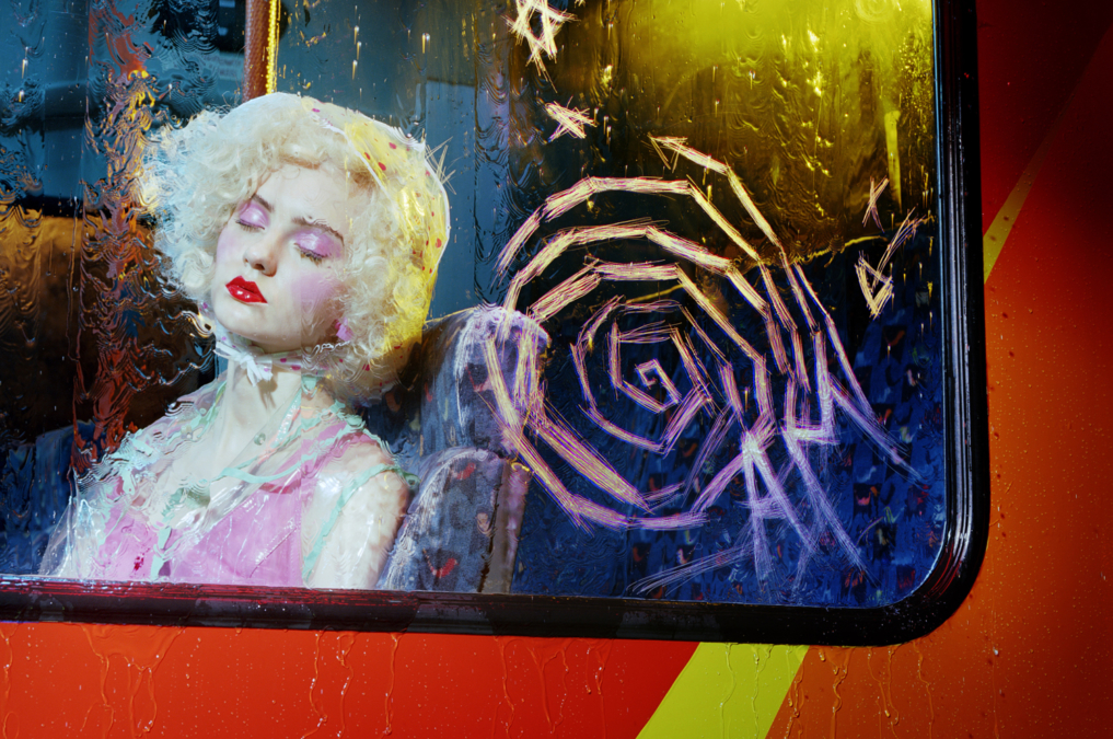 Miles Aldridge Vogue Italia Bus Stop3