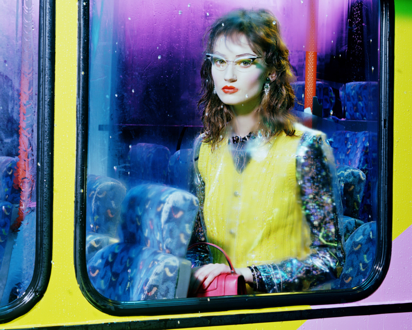 Miles Aldridge Vogue Italia Bus Stop4