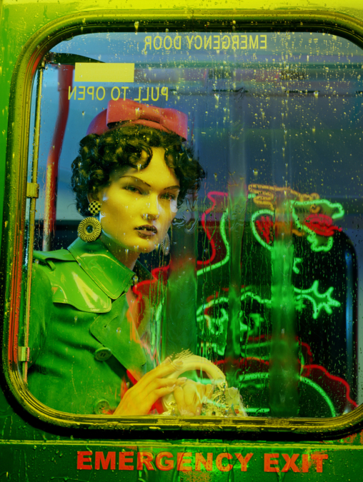 Miles Aldridge Vogue Italia Bus Stop6