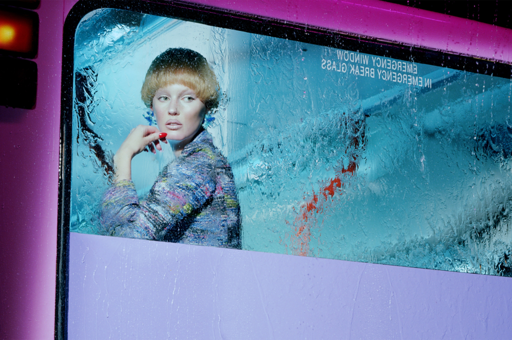 Miles Aldridge Vogue Italia Bus Stop7